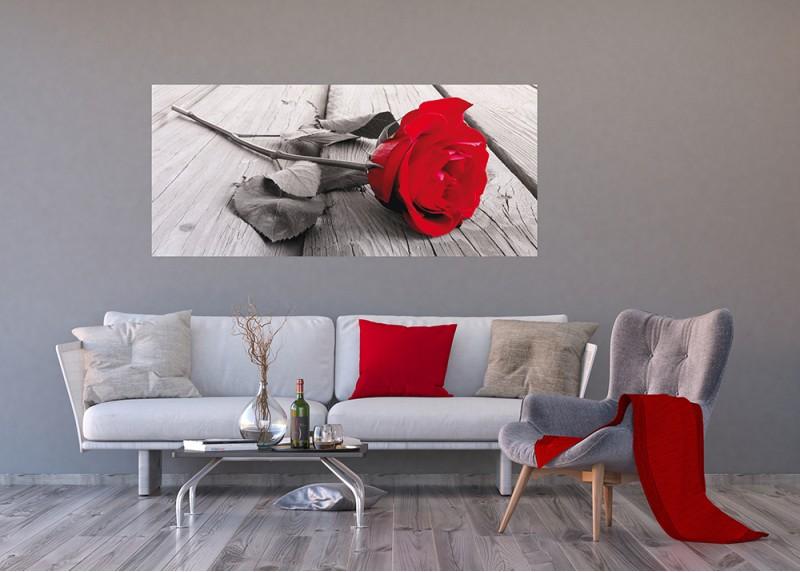 Červená růže, AG Design, fototapeta ekologická vliesová do obývacího pokoje, ložnice, jídelny, kuchyně, lepidlo součástí balení, 202x90