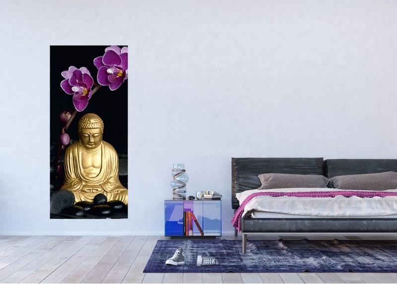 Buddha, AG Design, fototapeta ekologická vliesová do obývacího pokoje, ložnice, jídelny, kuchyně, lepidlo součástí balení, 90x202
