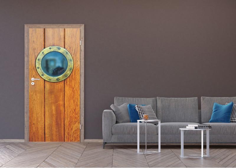 Kruhové okno, AG Design, fototapeta ekologická vliesová do obývacího pokoje, ložnice, jídelny, kuchyně, lepidlo součástí balení, 90x202