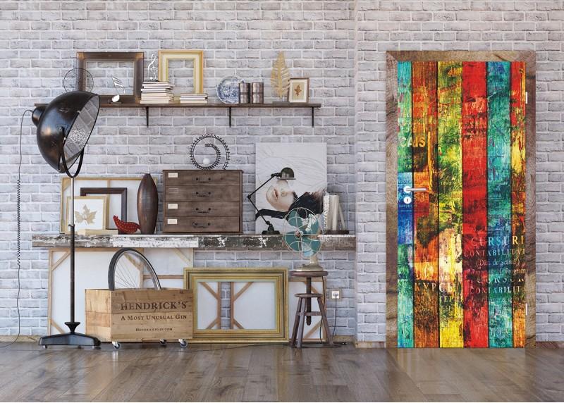 Barevná deska, AG Design, fototapeta ekologická vliesová do obývacího pokoje, ložnice, jídelny, kuchyně, lepidlo součástí balení, 90x202