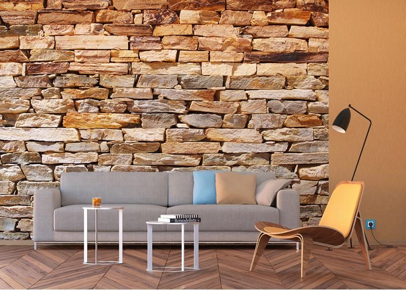 Cihlová zeď, AG Design, fototapeta do obývacího pokoje, ložnice, jídelny, kuchyně, lepidlo součástí balení, 360x254