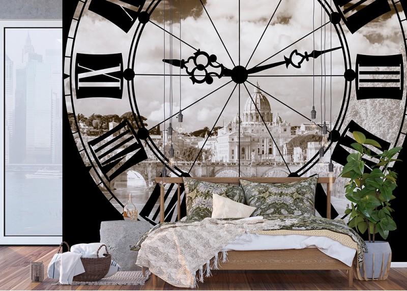 Hodiny, AG Design, fototapeta do obývacího pokoje, ložnice, jídelny, kuchyně, lepidlo součástí balení, 360x254