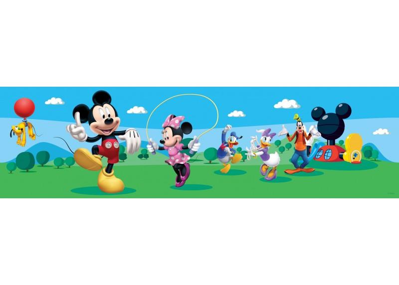 Mickey Mouse tančí s přáteli, Disney, samolepící bordura do dětského pokoje, 5 m x 14 cm, WBD 8069