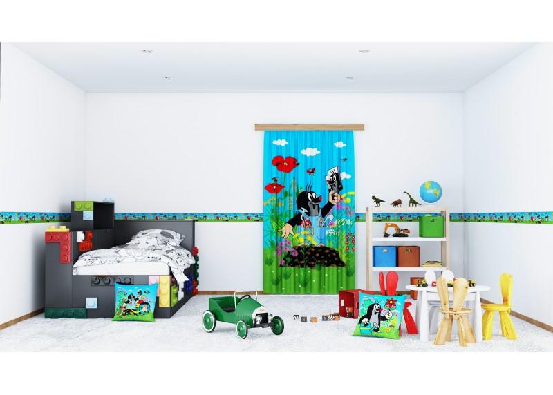 Krtek a zrcadlo, samolepící bordura do dětského pokoje, 5 m x 14 cm, WBD 8076