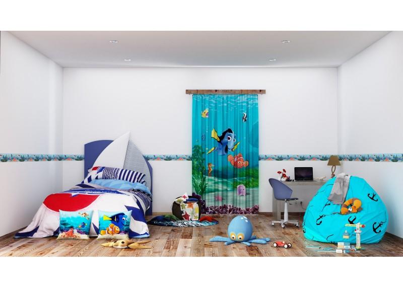 Dory a Nemo s přáteli, Disney, samolepící bordura do dětského pokoje, 5 m x 10 cm, WBD 8084