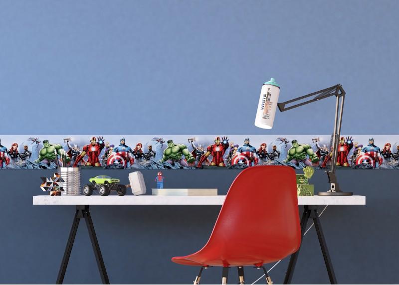 Avengers, Marvel, samolepící bordura pro dětské pokoje, AG Design 0,10 x 5 m, WBD 8087
