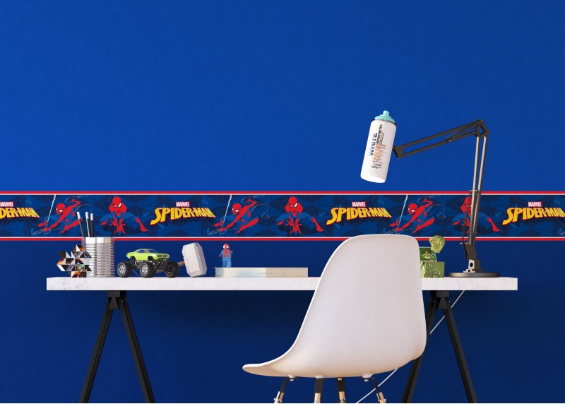 Spider-man, Marvel, samolepící bordura pro dětské pokoje, AG Design 0,14 x 5 m, WBD 8105