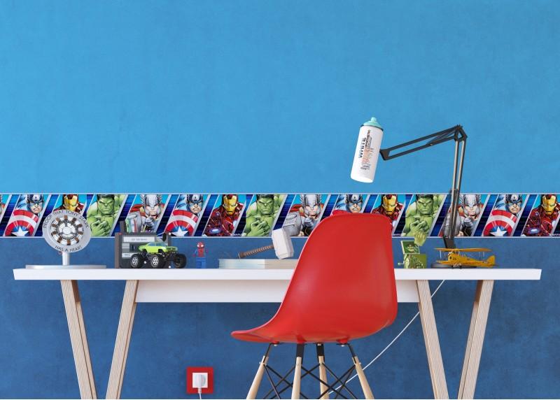 Avengers, Marvel, samolepící bordura pro dětské pokoje, AG Design 0,14 x 5 m, WBD 8107