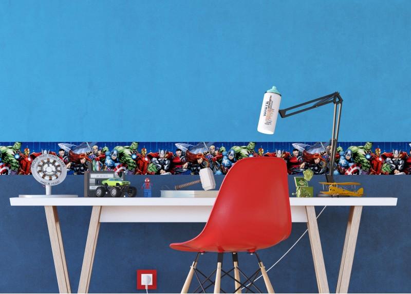 Avengers, Marvel, samolepící bordura pro dětské pokoje, AG Design 0,14 x 5 m, WBD 8108