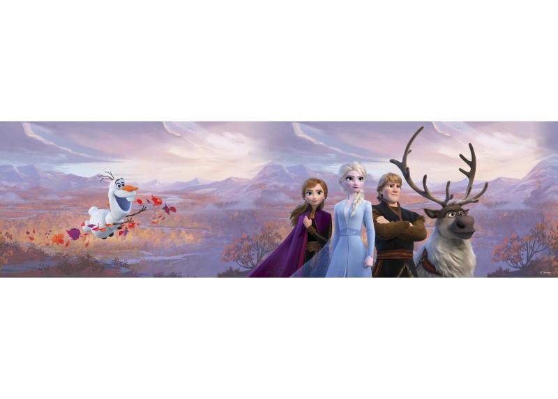 Elsa s přáteli v horách, Frozen 2, Disney, samolepící bordura do dětského pokoje, 5 m x 14 cm, WBD 8112