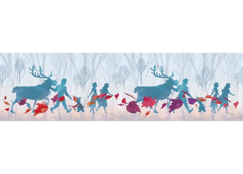 Siluety Frozen 2, Disney, samolepící bordura do dětského pokoje, 5 m x 14 cm, WBD 8113