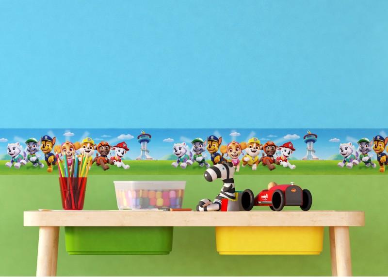 Tlapková patrola spěchá na pomoc, samolepící bordura do dětského pokoje, 5 m x 14 cm, WBD 8114