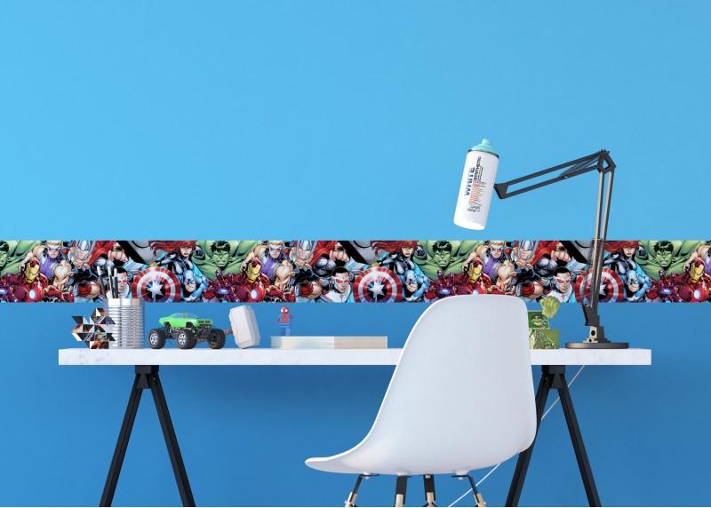 Avengers, Marvel, samolepící bordura pro dětské pokoje, AG Design 0,14 x 5 m, WBD 8162