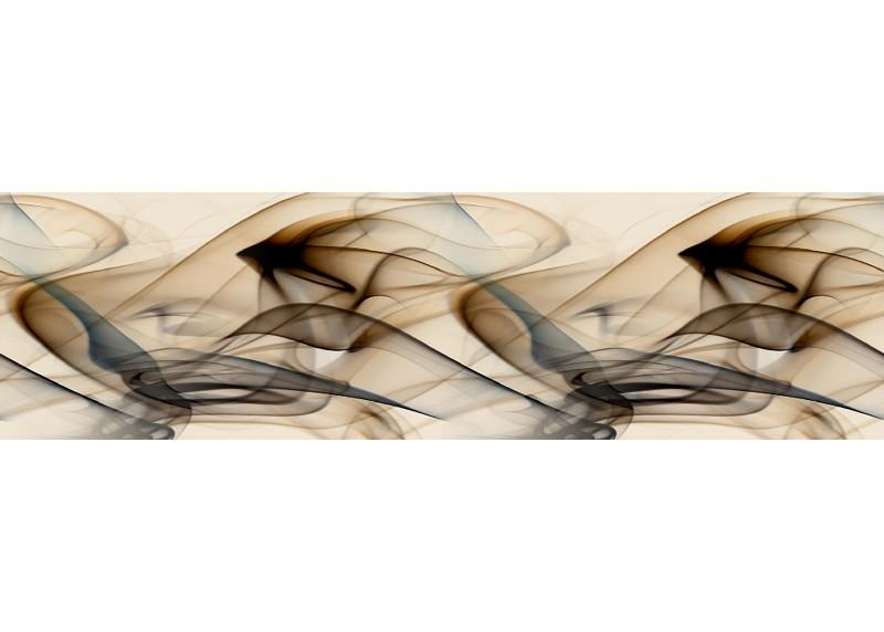Hnědý magický kouř, samolepící bordura pro stěny obývacího pokoje, ložnice, jídelny, kuchyně, chaty, AG Design, 5 m x 14 cm, WB 8243