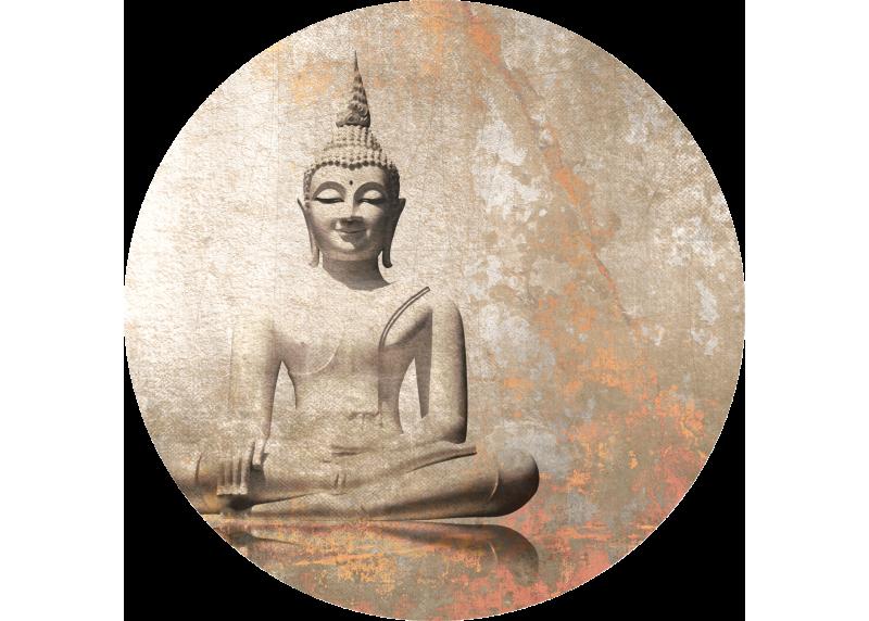 Buddha, AG Design, fototapeta ekologická vliesová do obývacího pokoje, ložnice, jídelny, kuchyně, 140x140