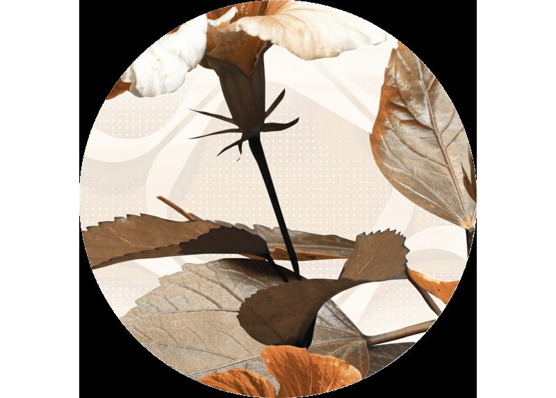 Květiny a listy, AG Design, fototapeta ekologická vliesová do obývacího pokoje, ložnice, jídelny, kuchyně, 140x140