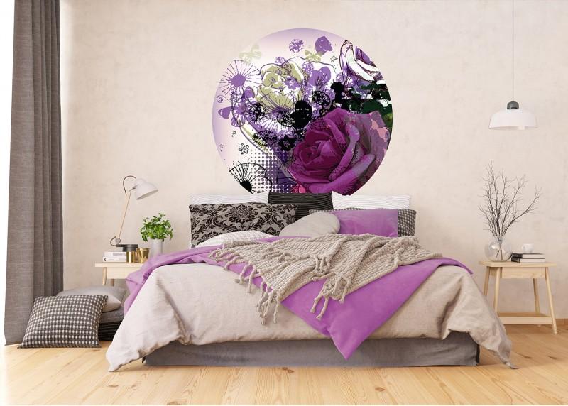 Květinová koláž, AG Design, fototapeta ekologická vliesová do obývacího pokoje, ložnice, jídelny, kuchyně, 140x140