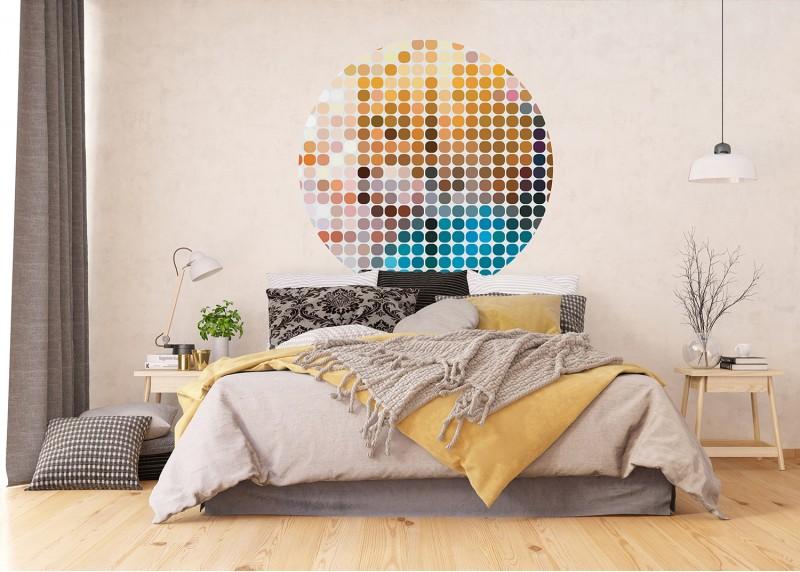 Barevná geometrie, AG Design, fototapeta ekologická vliesová do obývacího pokoje, ložnice, jídelny, kuchyně, 140x140