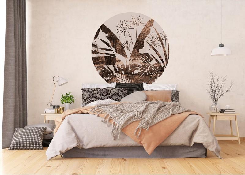 Exotické listy, AG Design, fototapeta ekologická vliesová do obývacího pokoje, ložnice, jídelny, kuchyně, 140x140