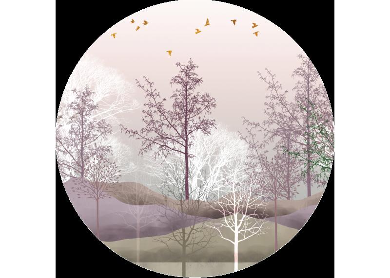Barevný les, AG Design, fototapeta ekologická vliesová do obývacího pokoje, ložnice, jídelny, kuchyně, 140x140