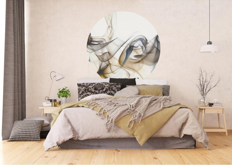 Béžový kouř, AG Design, fototapeta ekologická vliesová do obývacího pokoje, ložnice, jídelny, kuchyně, 140x140