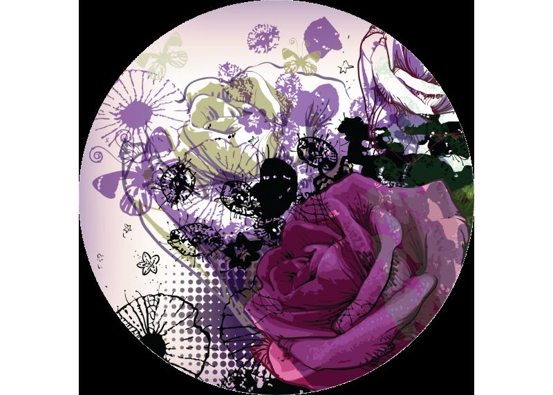 Květinová koláž, AG Design, fototapeta ekologická vliesová do obývacího pokoje, ložnice, jídelny, kuchyně, 70x70
