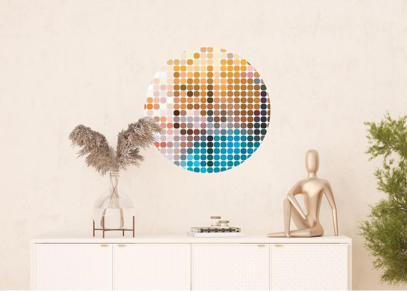 Barevná geometrie, AG Design, fototapeta ekologická vliesová do obývacího pokoje, ložnice, jídelny, kuchyně, 70x70