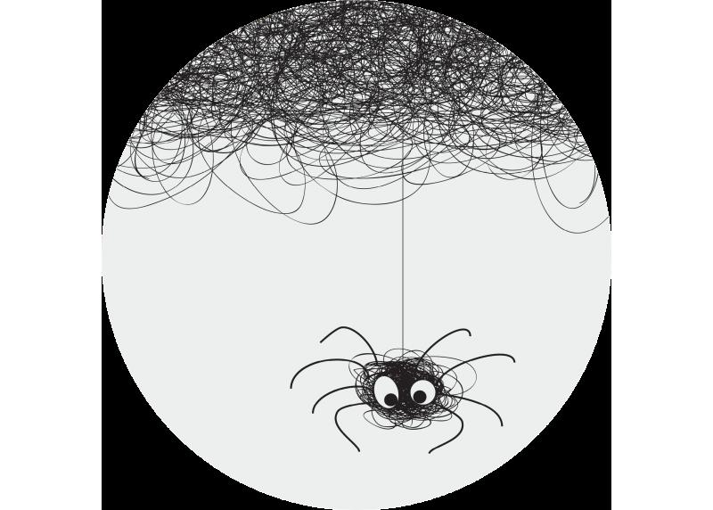 Pavouk, AG Design, fototapeta ekologická vliesová do obývacího pokoje, ložnice, jídelny, kuchyně, 70x70