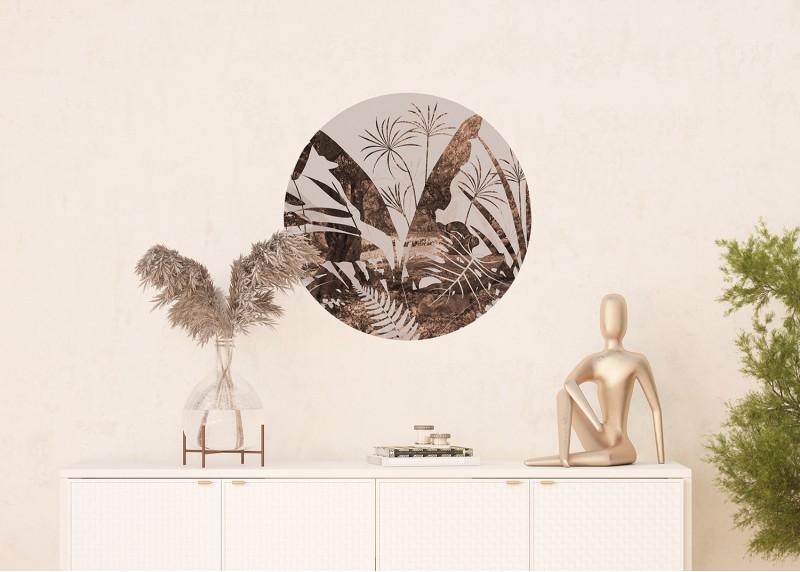 Exotické listy, AG Design, fototapeta ekologická vliesová do obývacího pokoje, ložnice, jídelny, kuchyně, 70x70