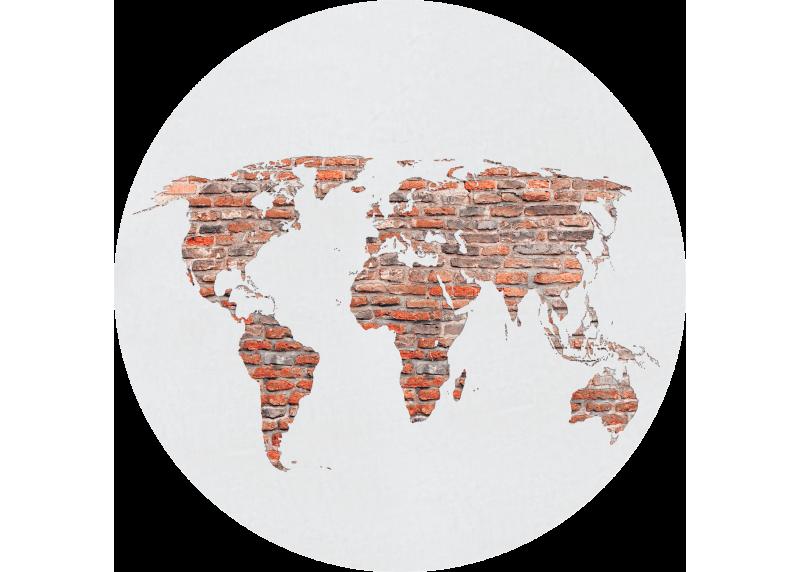 Retro mapa v cihlové barvě, AG Design, fototapeta ekologická vliesová do obývacího pokoje, ložnice, jídelny, kuchyně, 70x70