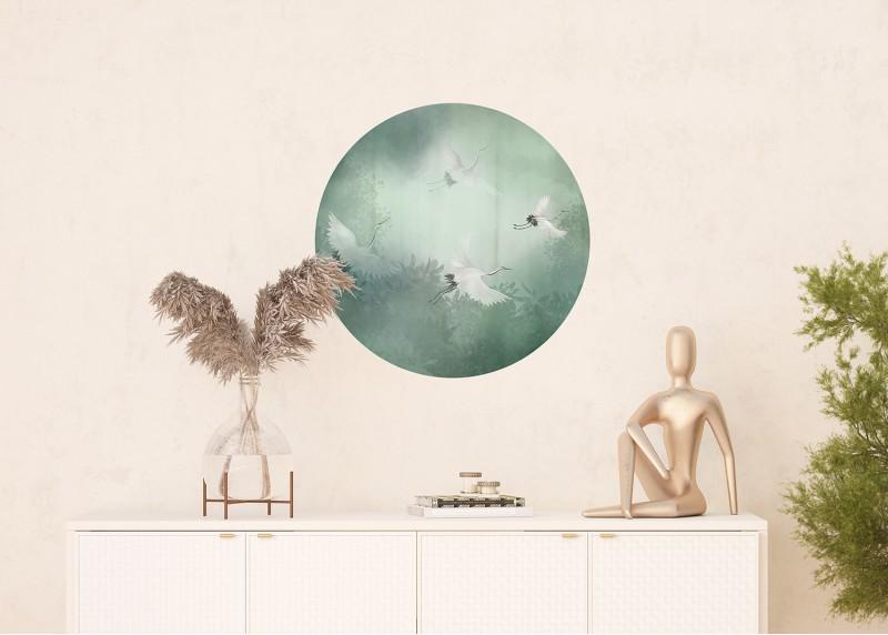 Letící jeřáby, AG Design, fototapeta ekologická vliesová do obývacího pokoje, ložnice, jídelny, kuchyně, 70x70
