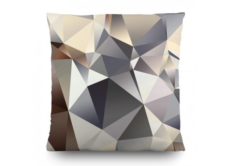 3D Trojúhelníky, dekorativní polštář AG Design, 45 x 45 cm, do obývacího pokoje, kuchyně, ložnice či chaty, CN 3610