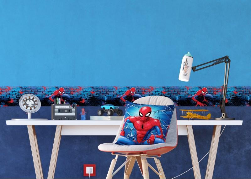 Spider-man, Marvel, dekorativní polštář AG Design, pro dětské pokoje, 40 x 40 cm, CND 3138