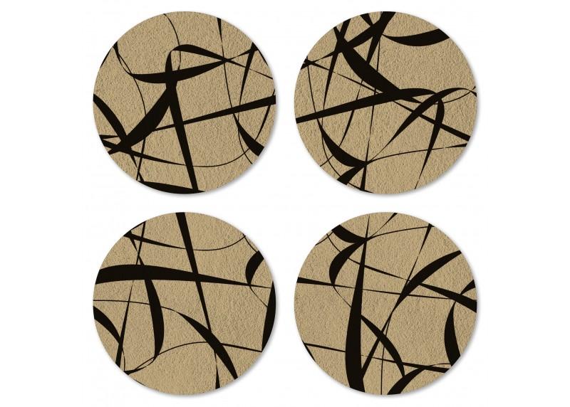 Kaligrafie na zlato-hnědém podkladu, Felt Mat AG Design, 10x10 cm,  FM 4704
