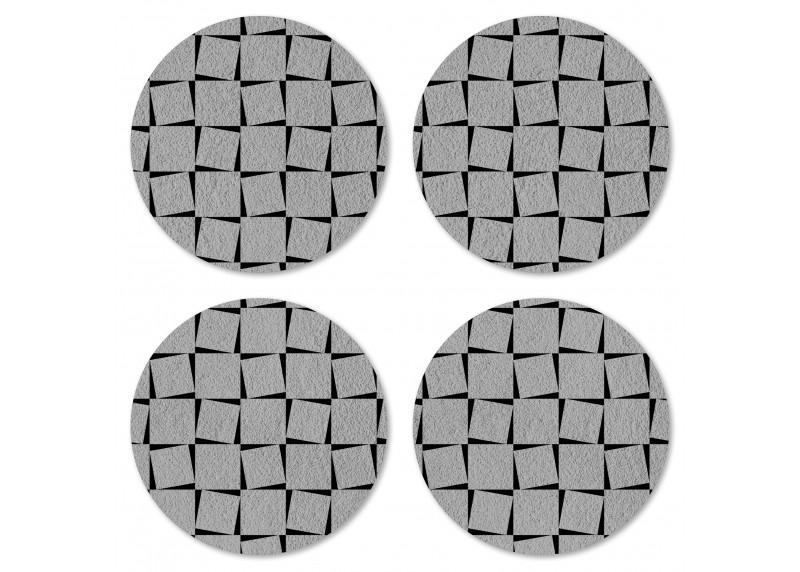 Tartanový motiv na ušlechtilé šedé, Felt Mat AG Design, 10x10 cm,  FM 4710