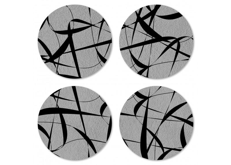 Kaligrafie na ušlechtilé šedém podkladu, Felt Mat AG Design, 10x10 cm,  FM 4711