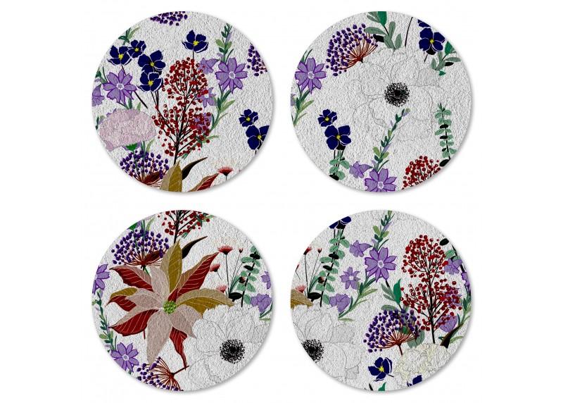 Jemné ručně kreslené květiny, Felt Mat AG Design, 10x10 cm,  FM 4717