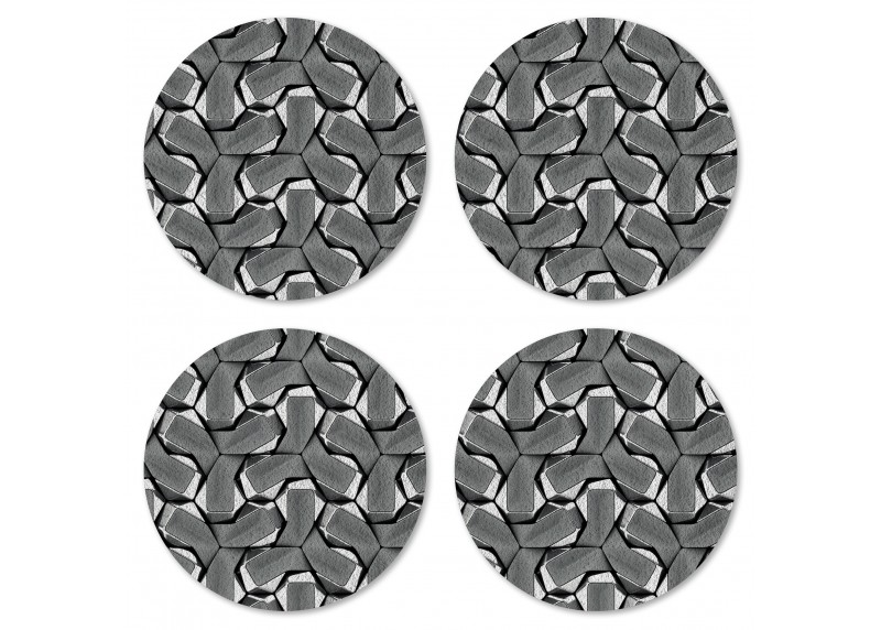 Ocelový tkaný reliéf, Felt Mat AG Design, 10x10 cm,  FM 4719