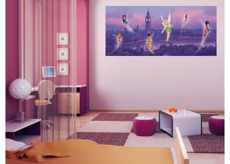 Víly v Londýně, Disney, AG Design, fototapeta do dětského pokoje, lepidlo součástí balení, 202x90