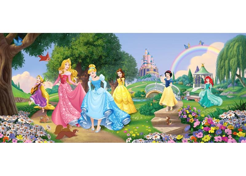 Princezny Disney v parku, Disney, vliesová fototapeta pro dětský pokoj, 202 x 90 cm, FTDN H 5378