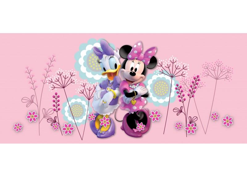 Kamarádky Minni Mouse a Daisy, Disney, vliesová fototapeta pro dětský pokoj, 202 x 90 cm, FTDN H 5390