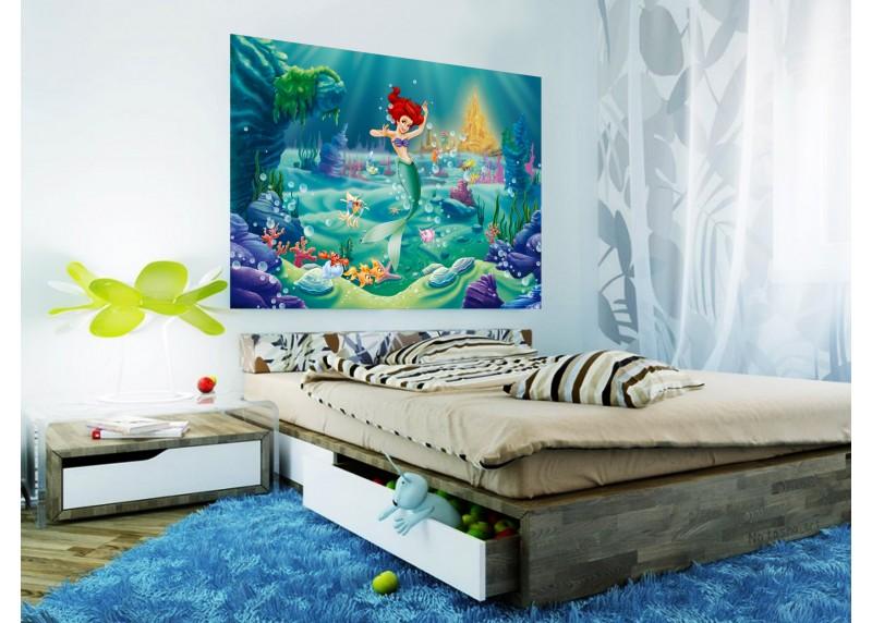 Ariel, Disney, AG Design, fototapeta do dětského pokoje, lepidlo součástí balení, 160x110