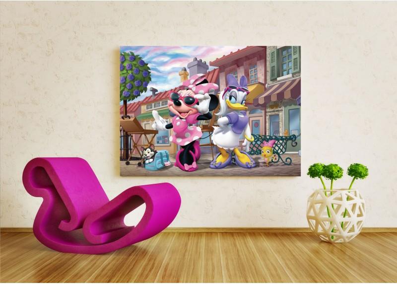 Krásky Mini Mouse a Dejzy, Disney, vliesová fototapeta pro dětský pokoj, 160 x 110 cm, FTDN M 5228