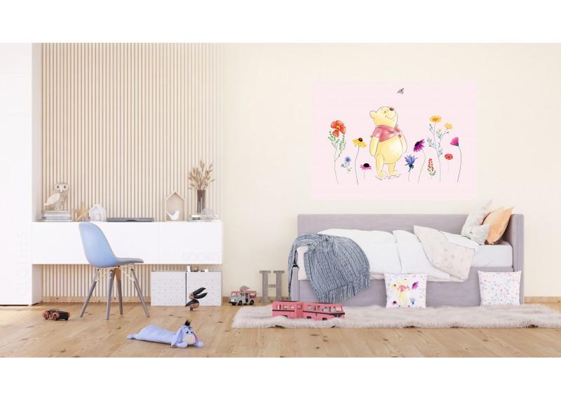 Medvídek Pú ve vodových barvách, Disney, vliesová fototapeta pro dětský pokoj, 160 x 110 cm, FTDN M 5266
