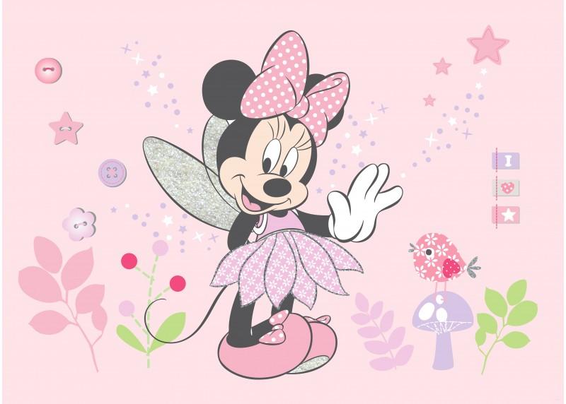 Mini Maus a Dejzy v čarovných barvách, Disney, vliesová fototapeta pro dětský pokoj, 160 x 110 cm, FTDN M 5268