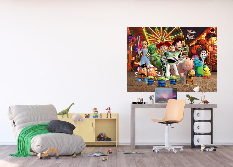 """""""Příběh hraček"""" na pouti, Disney, vliesová fototapeta pro dětský pokoj, 160 x 110 cm, FTDN M 5274"""
