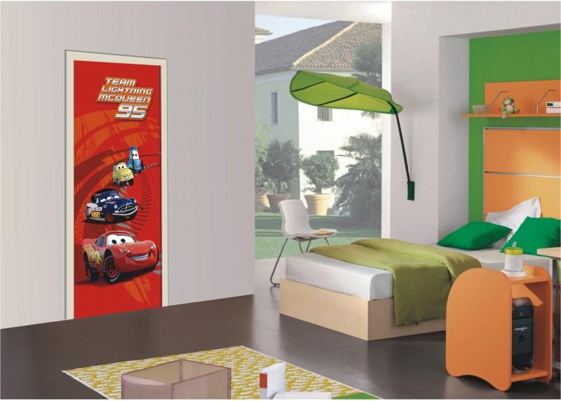 Blesk McQueen, Auta, Disney, AG Design, fototapeta do dětského pokoje, lepidlo součástí balení, 90x202