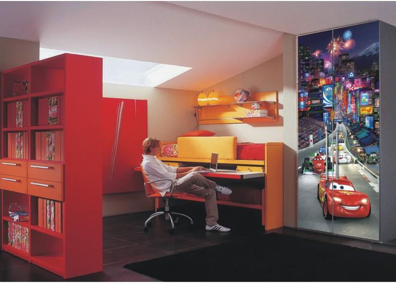 Auta v Tokiu, Disney, AG Design, fototapeta do dětského pokoje, lepidlo součástí balení, 90x202