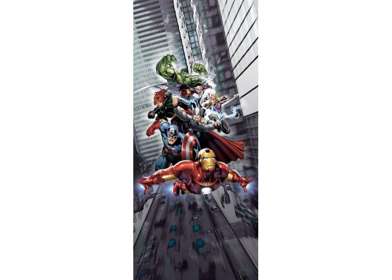 Avengers bojují ve městě, Marvel, AG Design, fototapeta do dětského pokoje, lepidlo součástí balení, 90x202
