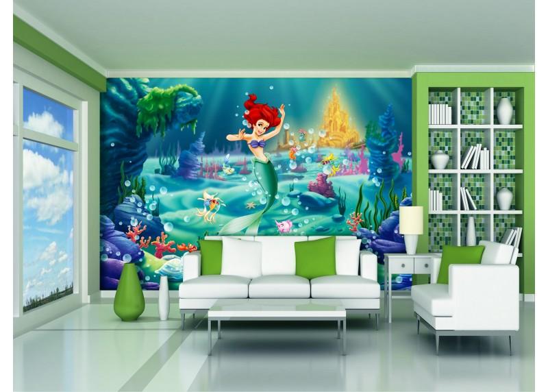 Ariel, Disney, AG Design, fototapeta do dětského pokoje, lepidlo součástí balení, 360x270